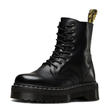 Women Black Martin Boots Genuine Leather Boots For Women Ank