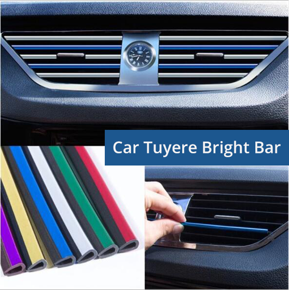 Car Air Conditioning Outlet Decorative Strip PVC Sticker Interior Supplies Cars Decoration Accessories Strip For Universal Auto