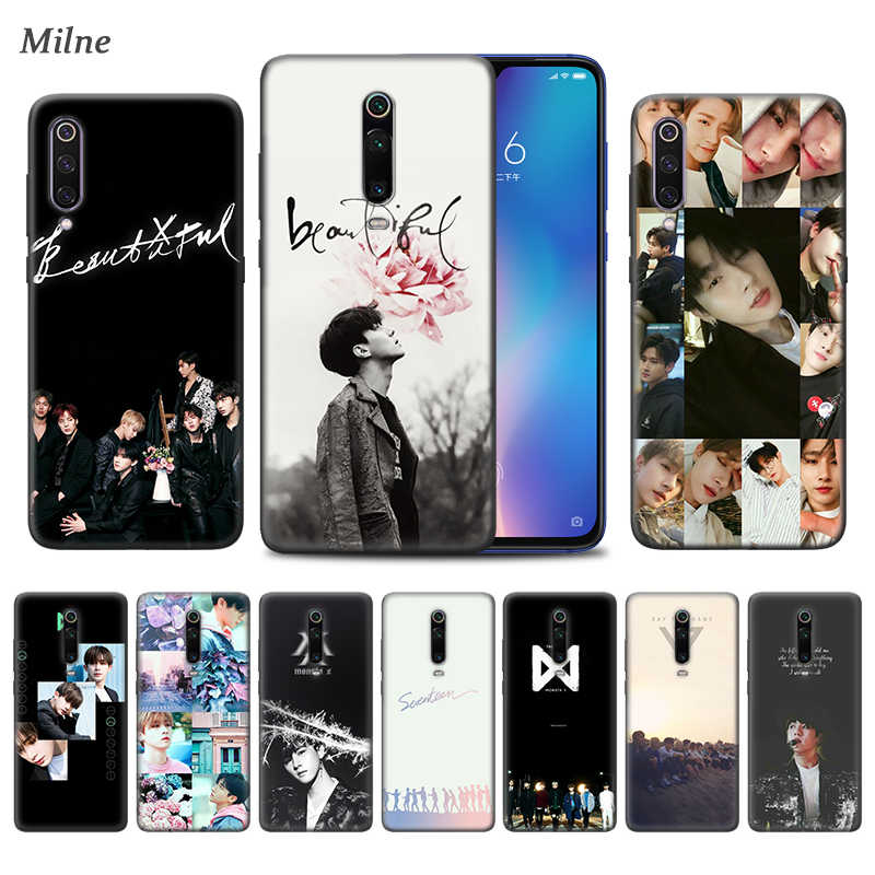Monsta X KPOP Boy Group Case untuk Xiaomi Redmi Note 9S 7 8 8T K30 K20 8A 7A 10X 5G Mi 9T 10 9 Pro A3 Hitam TPU Phone Coque Caso