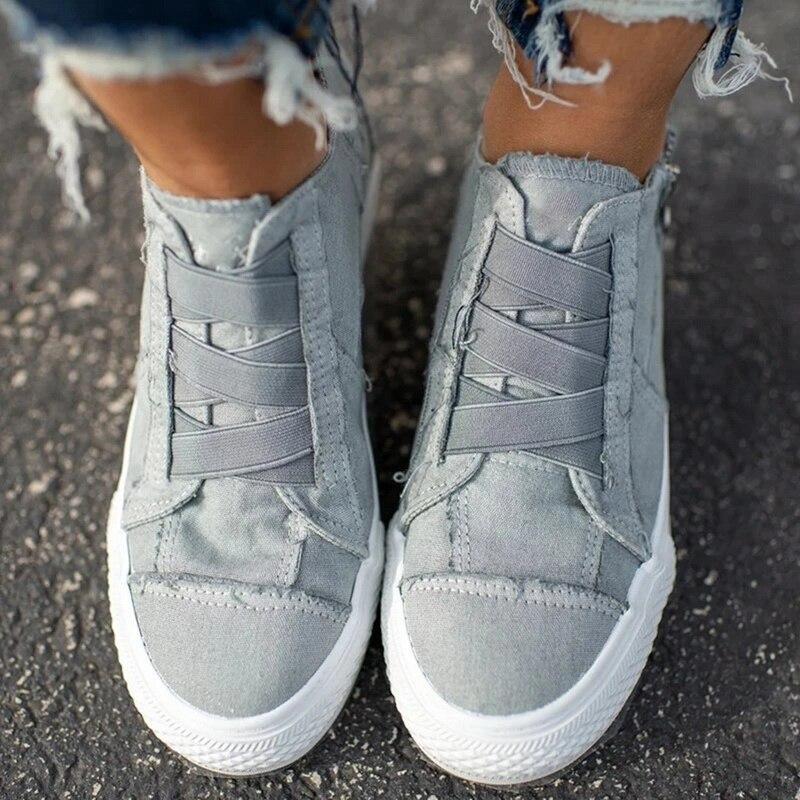 Torridity 2019 Women Shoes Casual Vulcanize Flat Shoes Sneakers Girls Low-cut Zipper Trainers Zapatos De Mujer