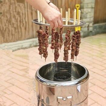 Barbacoa parrilla redonda De carbón estufa al aire libre Bacon barbacoa portátil...