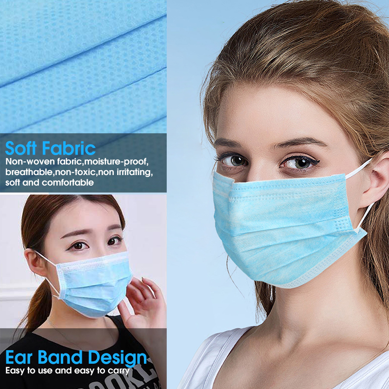 Image 5 - 10 PCS 3 Layer Disposable Medical Protective Face Mouth Masks  Anti Influenza Bacterial Virus  Dustproof  Safety Surgical Mask  -