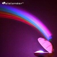 Lámpara LED RGB de 3 modos, luz Led creativa colorida de noche, proyector con forma de huevo de arcoíris, luz mágica romántica para decoración de dormitorio de niños