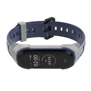 Image 5 - Pour Xiaomi Mi Band 5 sangle Pulseira 3 4 poignet Bracelet Silicone Opaska Correa pour Miband 5 Xiomi Xaomi bracelets accessoires