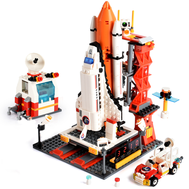 GUDI 679pcs City Technic Spaceport Space Shuttle Launch Center Bricks Building Block Educational Toys For Kids LeoiNGly
