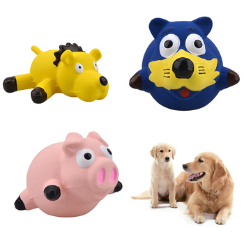 Funny Doy Toys Cute Pig Grunting Squeak Latex Toy Dog Chew Toys Pet Teasing Sound Dog Squeaker Molar Pet Training Products image