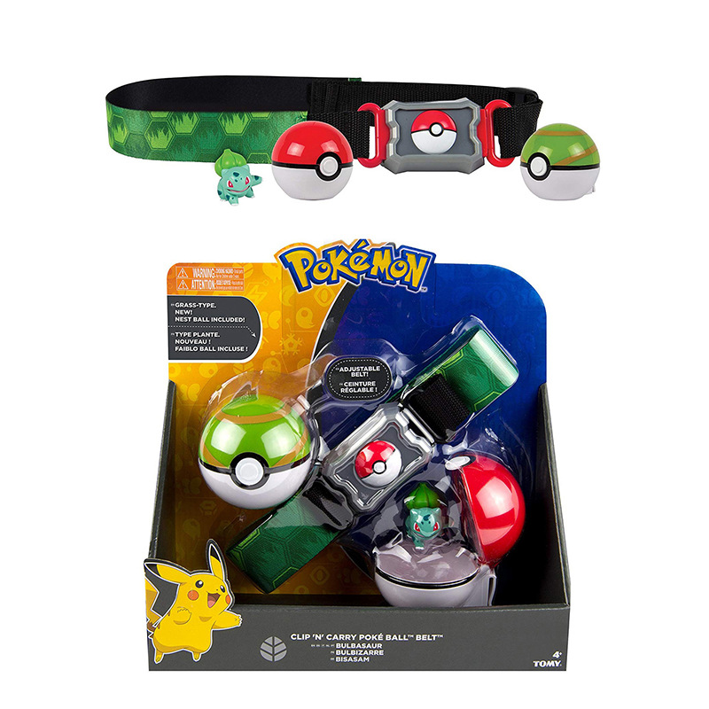 TOMY Pokemon Genuine  Elf Ball Belt Pikachu Pokeball Pocket Monster Variant ModelToy Set cosplay Action Figure Model Kids Toy 2