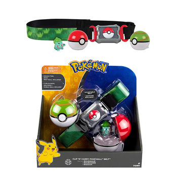 TOMY Pokemon Genuine  Elf Ball Belt Pikachu Pokeball Pocket Monster Variant ModelToy Set cosplay Action Figure Model Kids Toy 2
