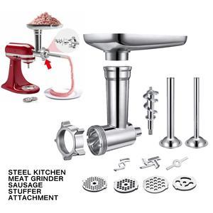 Meat Grinders Mixer Aid-Stand Kitchen-Appliances Sausage Stuffer-Attachment Steel