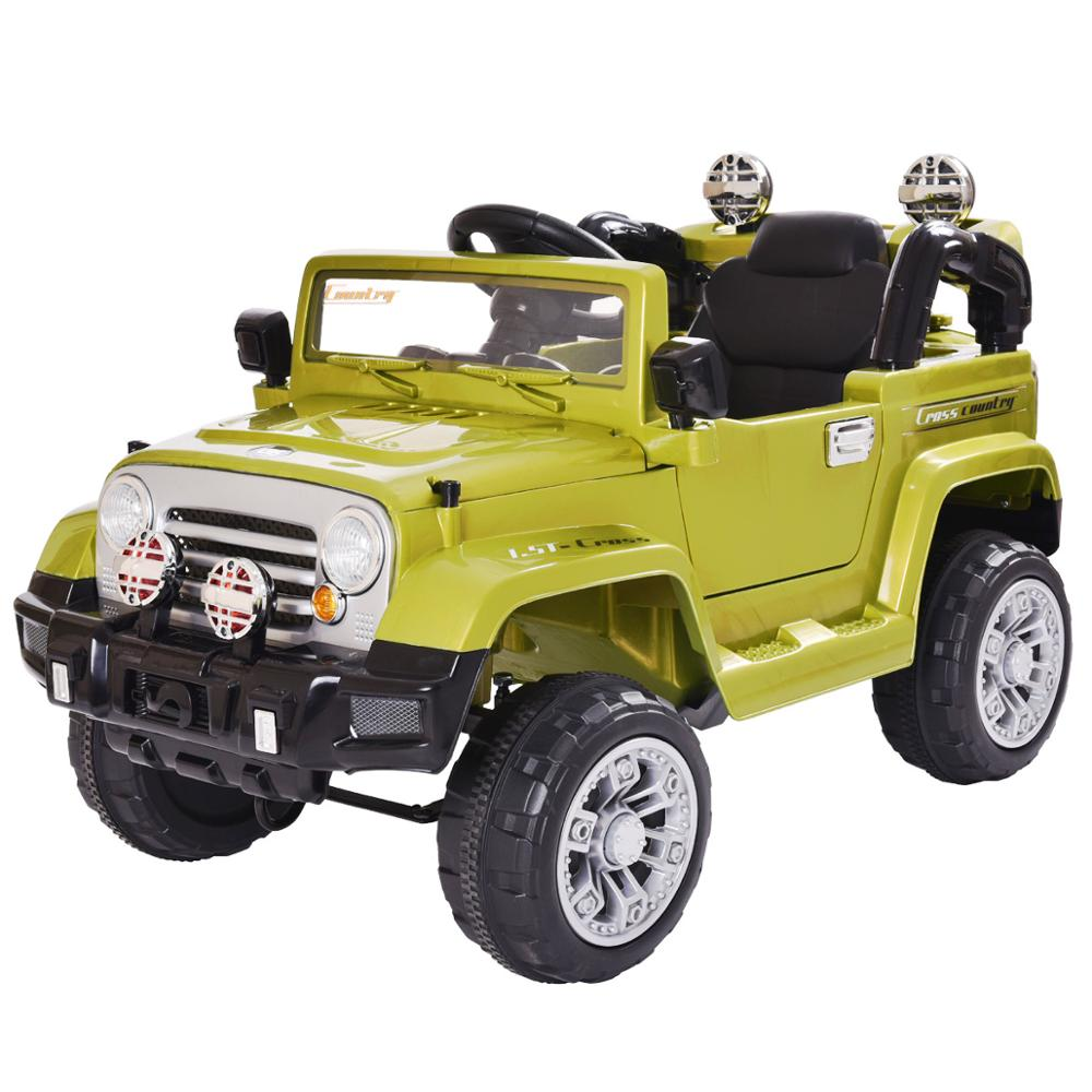 12V Children Electric Ride On Car Truck Battery Powered With Remote Control LED Lights Double Open Doors Music Kids Toy CL5762