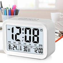 Réveil numérique moderne à affichage Led, électrique, Snooze, avec calendrier de température, pour chambre à coucher, bureau
