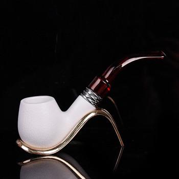 Wysokiej jakości palenie tytoń fajka Meerschaum cygaro Sepiolite rury najlepszy prezent dla przyjaciela tanie i dobre opinie Bent rodzaj
