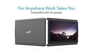 Image 2 - DUEX on the go dual screen Portable Laptop monitor for all Laptops Apple Lenovo multi task simple use lightweight & sleek design