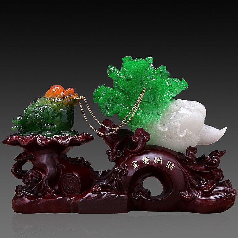 Chanceux doré Toad décoration grande taille Jade chou bureau décorations pour la maison boutique ouverture cadeau en gros