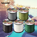 Ashconfish braided line 4 strands 500M 1000M japan multifilament 6-100LBS test Braided Wire Ocean sea ice fishing pe line cord