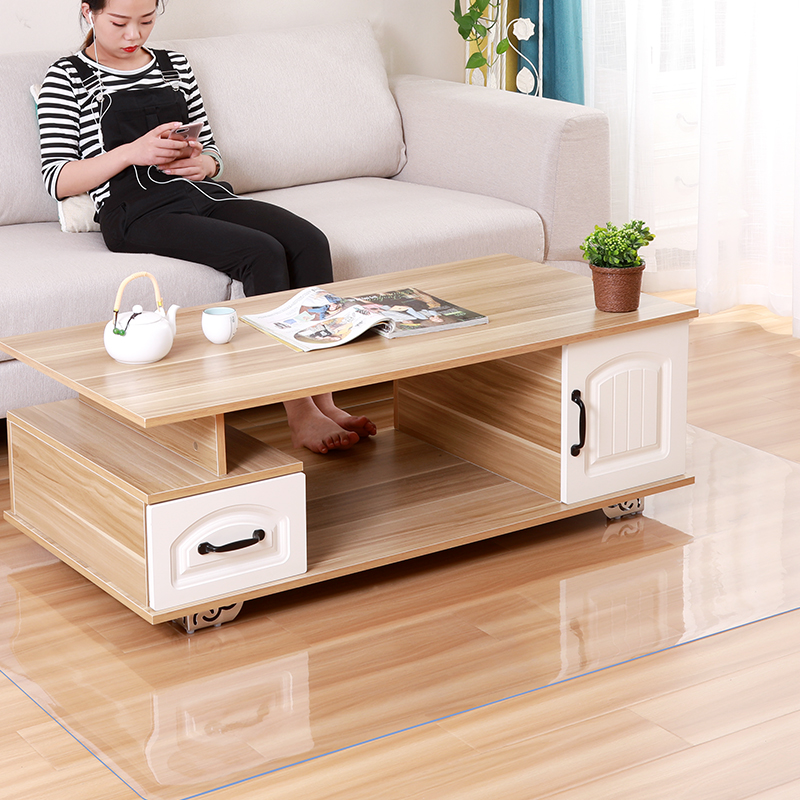 Soft Glass Transparent wood floor protection mat rug PVC computer chair mats protectors plastic Living Room Coffee Table Carpet image