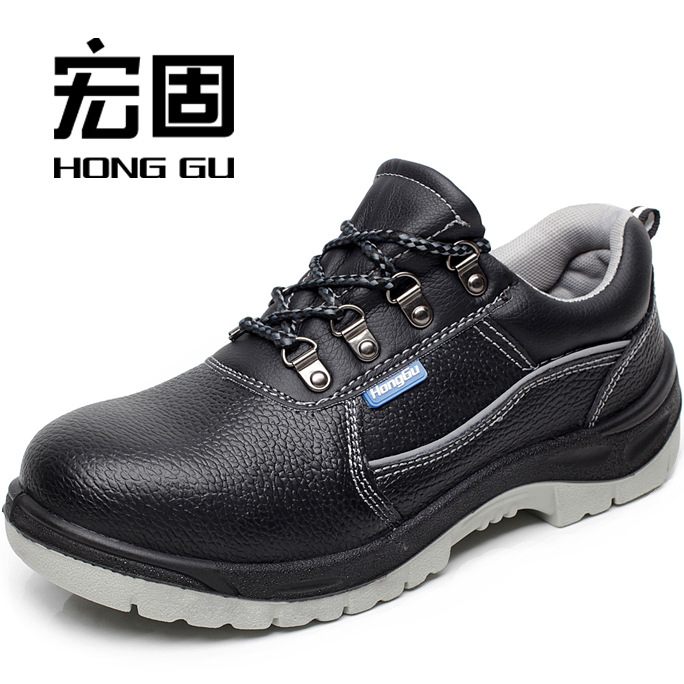 Wear-Resistant PU Sole Air Mesh Casual Fashion Shoe Men's Pub-Safety Shoes Cowhide Safety Shoes