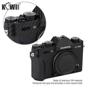 Image 3 - Kiwi Anti Scratch Protetor de Pele Da Tampa Do Corpo Da Câmera Para Fujifilm Fuji X T30 3 XT30 Câmera Anti Slide Filme De Fibra De Carbono 3M Adesivo