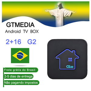 GTMEDIA G2 s905W Android tv box 7,1 2GB 16GB de RAM ROM Wifi m3u para set top box brasil 4k Dispositivo de tv inteligente brasil almacén