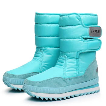 Women Boots Super Warm Snow Boots Winter Shoes Woman Mid-calf Boots Waterproof Winter Footwear Female Platform Heels Botas Mujer