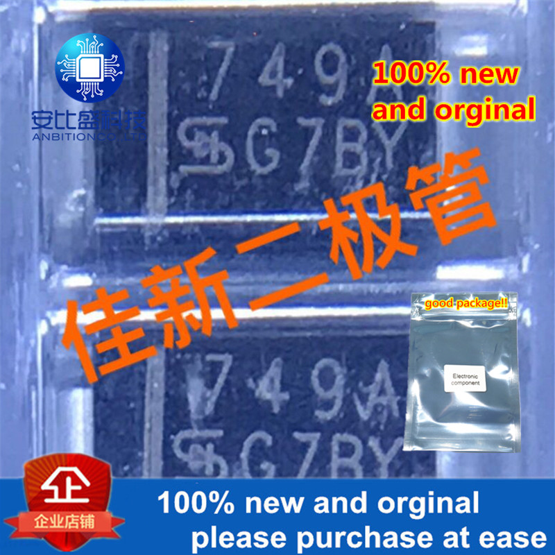 50pcs 100% New And Orginal 1SMA4749 1W24V DO214AC Silk-screen Voltage Zener Diode 749A In Stock