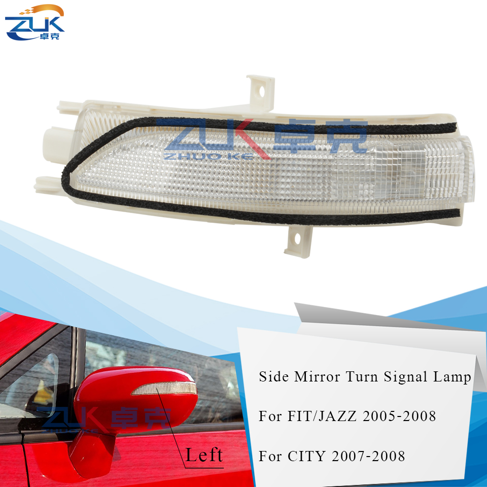 ZUK Rearview Mirror Turn Signal Side Mirror <font><b>LED</b></font> Repeater Lamp For <font><b>Honda</b></font> FIT JAZZ 2007-2008 FIT SALOON 2003-2006 <font><b>CITY</b></font> 2007-2008 image