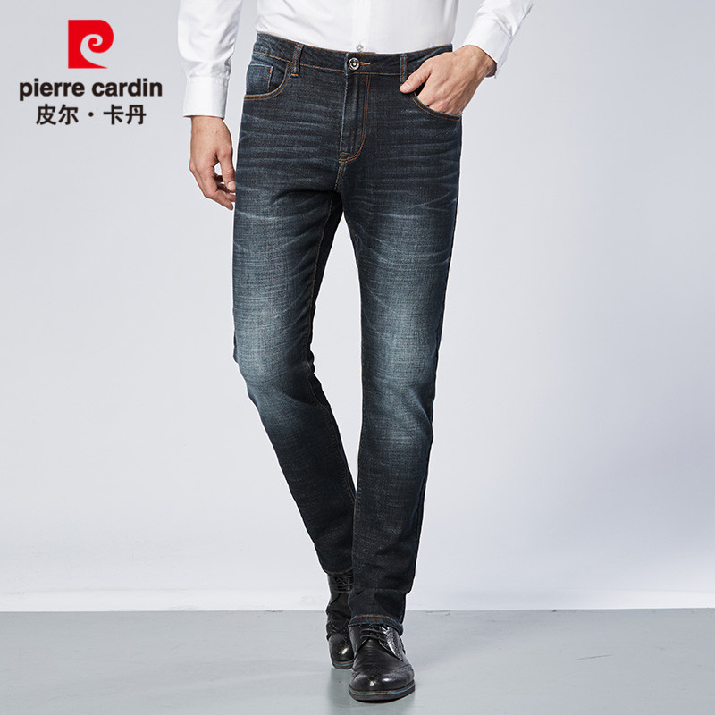 2019 Pierre Cardin Brand Autumn And Winter Slim Fit Business Casual MEN'S Jeans Straight-Cut Comfortable Stretch Pants