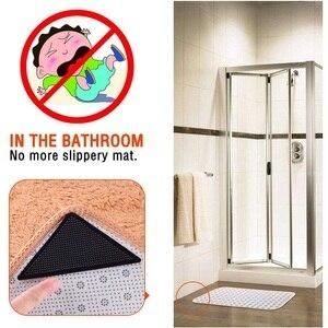 Image 3 - 4 sztuk/zestaw wielokrotnego użytku zmywalny dywan mata dywanowa chwytaki antypoślizgowe silikonowe maty do kąpieli Grip Protect dla domu do łazienki do pokoju gościnnego pokój