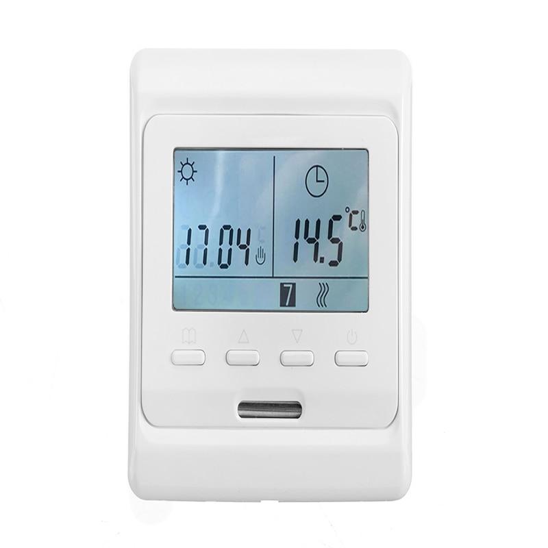 1Pc LCD Display Digital Underfloor Heating Thermostat AC 230V 50Hz Digital Floor Thermostat Temperature Controller