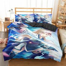 Homesky Japanese Anime Bedding Set 3D Cartoon Girl Microfiber Duvet Cover Queen King Size Comforter Cover Set Bed Linen cheap None Duvet Cover Sets Sanding 100 Polyester 1 0m (3 3 feet) 1 2m (4 feet) 1 35m (4 5 feet) 1 5m (5 feet) 1 8m (6 feet)
