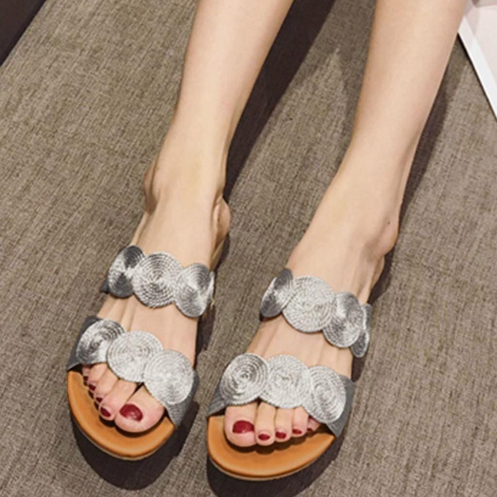 JAYCOSIN Summer Women Slippers Platform Beach Sandals Coil Flip Flop Shoes Woman Wedges Heels Slip On Comfort Shoes slides Drop 2