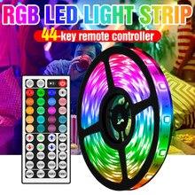 Bande lumineuse RGB LED, ruban d'éclairage étanche, Flexible, Fita 5050, 5/10/15/20M, 12V SMD, pour armoire de salle de bains, lampe à Led