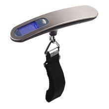 Портативные Ручные весы для багажа из нержавеющей стали, 50 кг, портативные электронные весы, экспресс-электронные весы для багажа, безопасности для путешествий