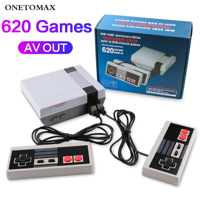 ONETOMAX Retro Handheld 4 Keys Games Console Built-in 620 Classic Games Controller for NES TV Handheld Mini Game Console Joypad 1