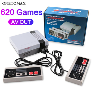 ONETOMAX Retro Handheld 4 Keys Games Console Built-in 620 Classic Games Controller for NES TV Handheld Mini Game Console Joypad