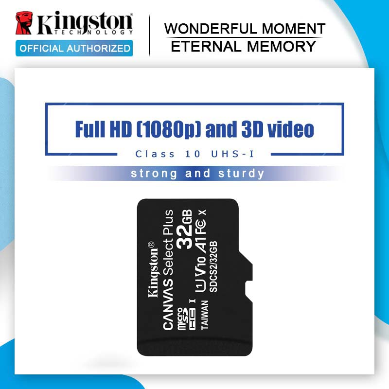 Карта памяти Kingston для смартфона, карта Micro SD, 16 Гб/32 Гб/64 Гб/128 Гб/256 Гб/512 Гб/ 1 Тб, карта TF/SD класса 10, Micro SDHC/UHS-1