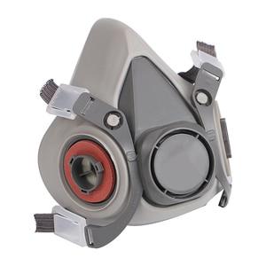 Image 3 - Gas Maske Industrielle Halbe Gesicht Malerei Spritzen Atemschutz mit Schutzbrille Anzug Sicherheit Arbeit Filter Ersetzen 3M 6200