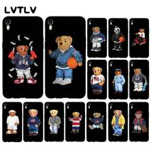 LVTLV fashion Cute Bear Italia Silikon Lembut TPU Ponsel Cover untuk iPhone SE 2020 11 pro XS MAX 8 7 6 6S Plus X 5 5S SE XR case(China)