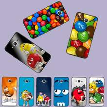 Brief M & Ms Chocolade Doos Cartoon Telefoon Case Cover Voor Samsung Galaxy J2 J4 J5 J6 J7 J8 2016 2017 2018 Prime Pro Plus Neo Duo(China)