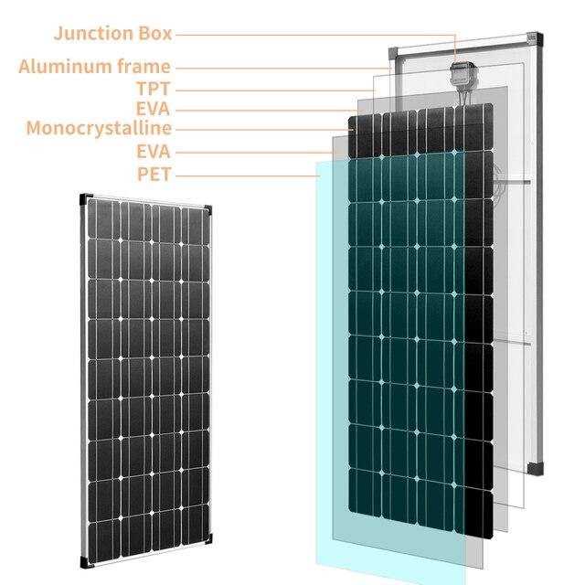 BOGUANG, 150W, 18V, módulo Solar ligero, energía PV para batería de 12v, barco de carga, caravana, cualquier otra aplicación fuera de la red
