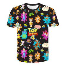 2019 popular 3D printed cartoon toy story 4 summer casual street men and women summer short sleeves(China)