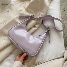цена на Half Moon Design Small PU Leather Crossbody Bags for Women 2020 Summer Female Elegant Solid Color Simple Shoulder Handbags