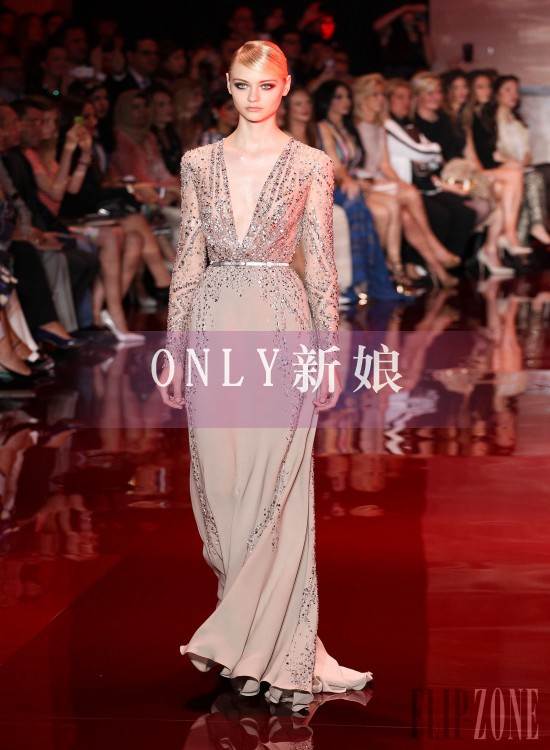 2018 New Design Vestido De Noiva Formal Long Sleeve Luxury Crystal Slit Style Dress Elegant Party Gown Mother Of The Bride Dress