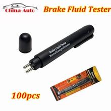 100 шт./лот тестер тормозной жидкости 5 светодиодный автомобильный Автомобильный автомобильный инструмент для тестирования для DOT3/DOT4