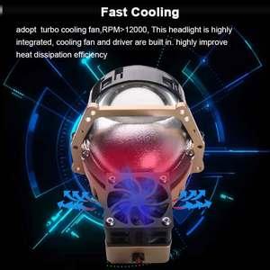 Image 4 - SANVI 3inches 69W 5500K Auto Bi led&Laser Projector Lens Headlight  With Hella 3r Mounting Bracket LHD RHD Car Light accessories