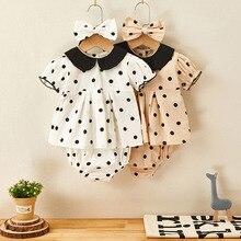 Clothing-Sets Baby-Girls Summer Dot Belt Short 1-3yrs Top 3pcs/Set