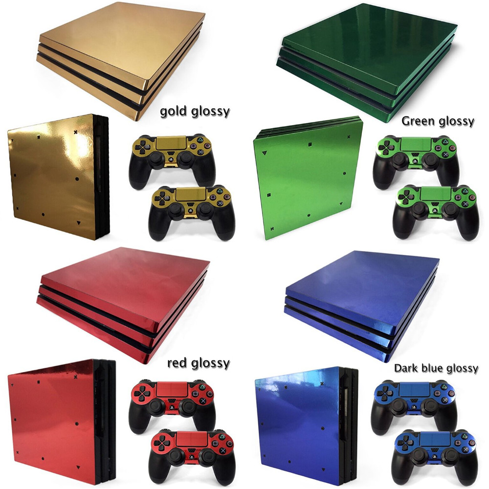 Gold red grey Green glossy Custom design decal for ps4 pro vinyl decal skin sticker