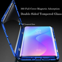Case For Xiaomi Redmi K20 Pro Redmi K20 Shockproof Magnetic Adsorption Cover For Xiaomi mi 9T Pro Front and Back Glass Cover