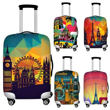 цена на 18-32 Inch Vintage Luggage Cover  Dust-proof Trolley Case Suitcase Cover Elastic Fabric Baggage Protective Covers