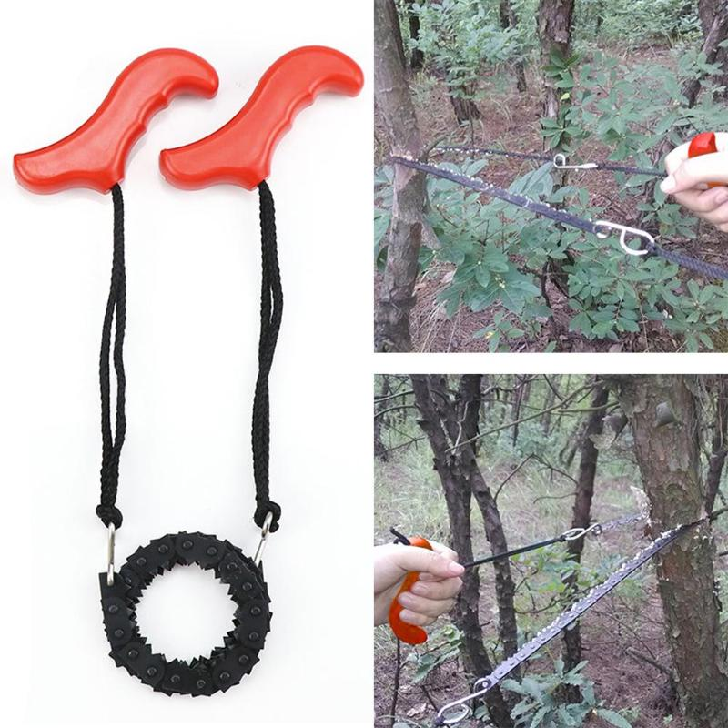 Pocket Chainsaw Hand Chainsaw Portable Bidirectional Chain Tree Saw Outdoor Survival Camping Hiking Wood Cutting Chain Saw